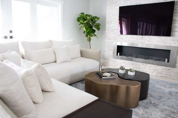 campo sano coral gables contemporary home remodel white sofa yin yang tables fiddle fig tree